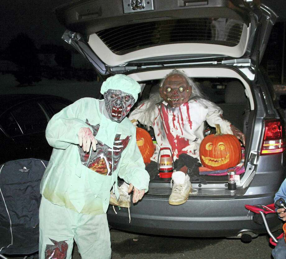 "A scary ""trunk"" at a previous Trunk or Treat event. Photo: Jean Falbo-Sosnovich — New Haven Register"