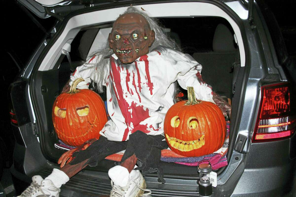"""A scary """"trunk"""" at a previous Trunk or Treat event."""