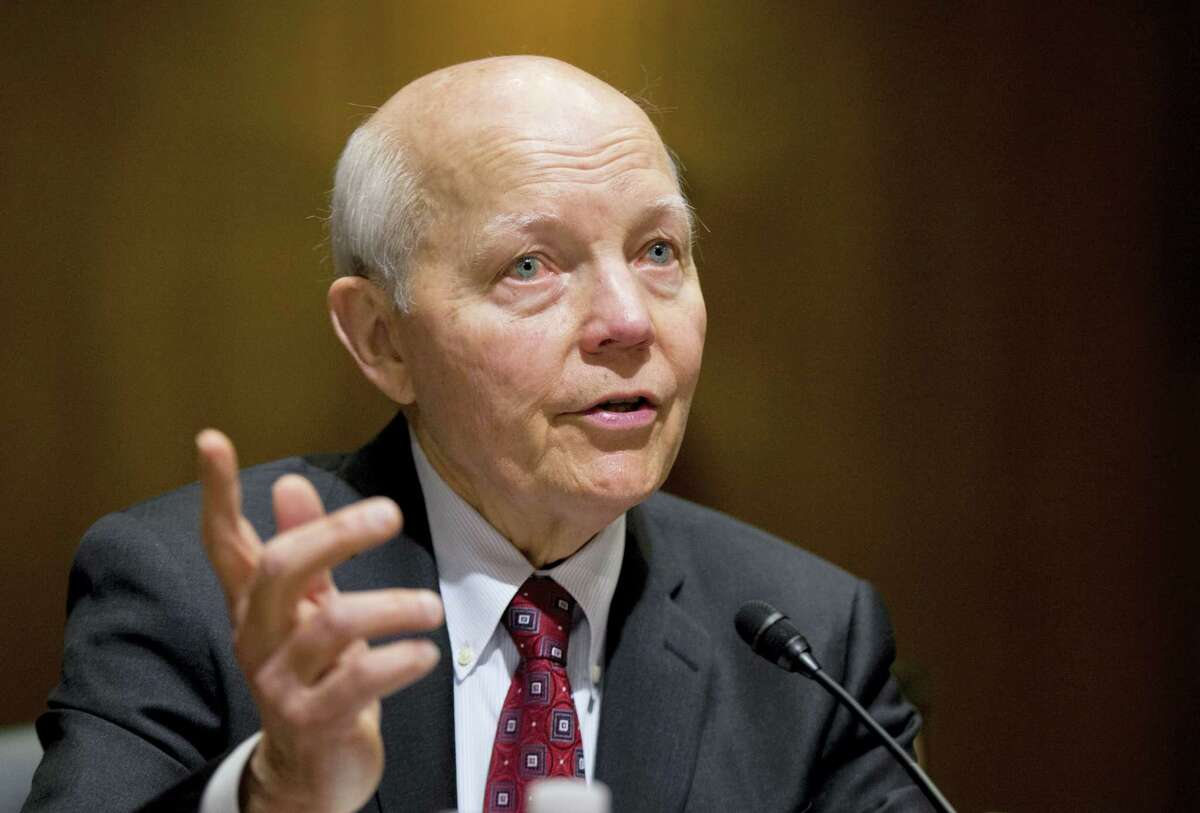 In this Feb. 10, 2016 photo, Internal Revenue Service (IRS) Commissioner John Koskinen testifies on Capitol Hill in Washington. A campaign-season effort by conservatives to impeach the IRS commissioner has no chance of succeeding and is being resisted by other Republicans who think it could hurt them with swing voters.