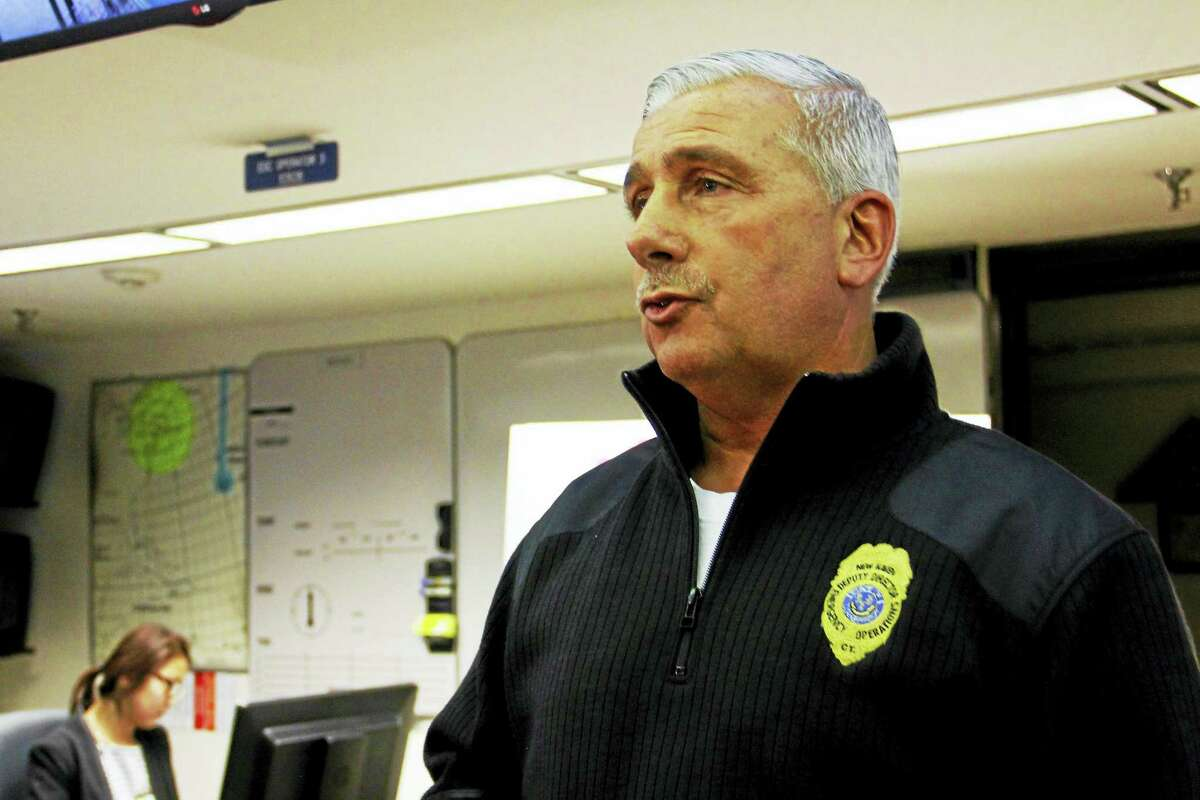 New Haven Emergency Operations Deputy Director Rick Fontana leads a briefing inside the city's Emergency Operations Center in January.