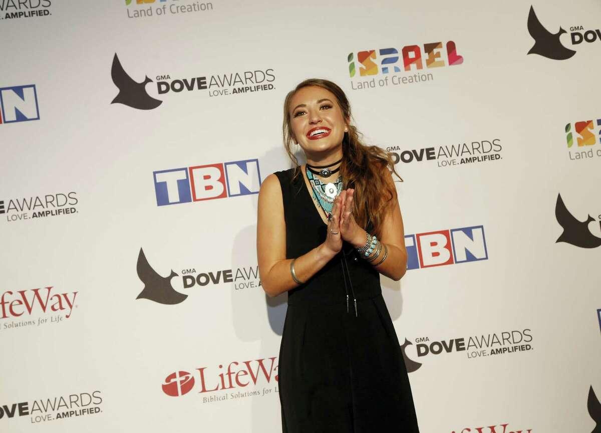 Lauren Daigle at the 47th Annual GMA Dove Awards at Lipscomb University's Allen Arena on Oct. 11, 2016 in Nashville, Tenn.