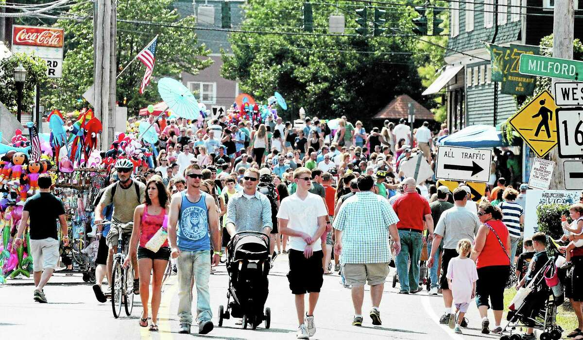 Large crowd at the Milford Oyster Festival in 2013.
