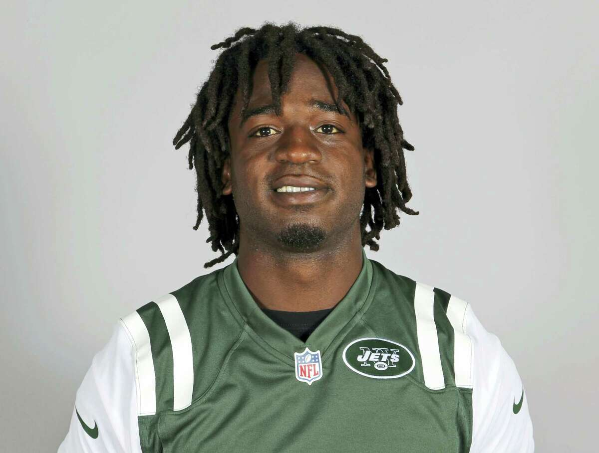 FILE - This is a 2013 file photo showing New York Jets running back Joe McKnight. Former NFL player McKnight has been shot to death following an argument at an intersection with another motorist. Jefferson Parish (La.) Sheriff Newell Normand says it happened about 2:43 p.m. Thursday, Dec. 1, 2016, in Terrytown, a suburb of New Orleans. (AP Photo/File)