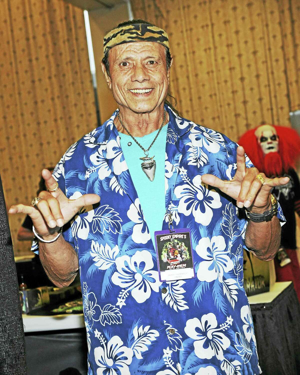 Jimmy 'Superfly' Snuka appears at a 2014 convention.