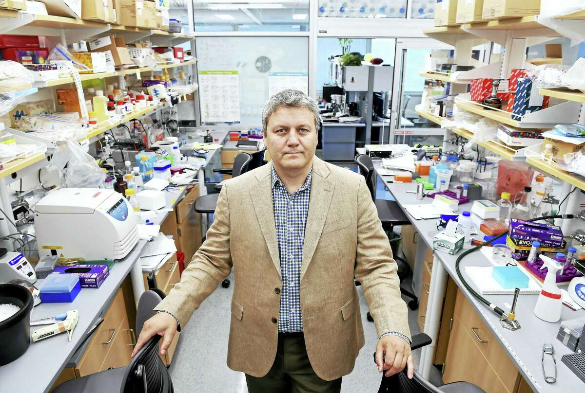 Andre Levchenko, director of Yale Systems Biology Institute, is photographed in his lab at Yale University's West Campus in West Haven.