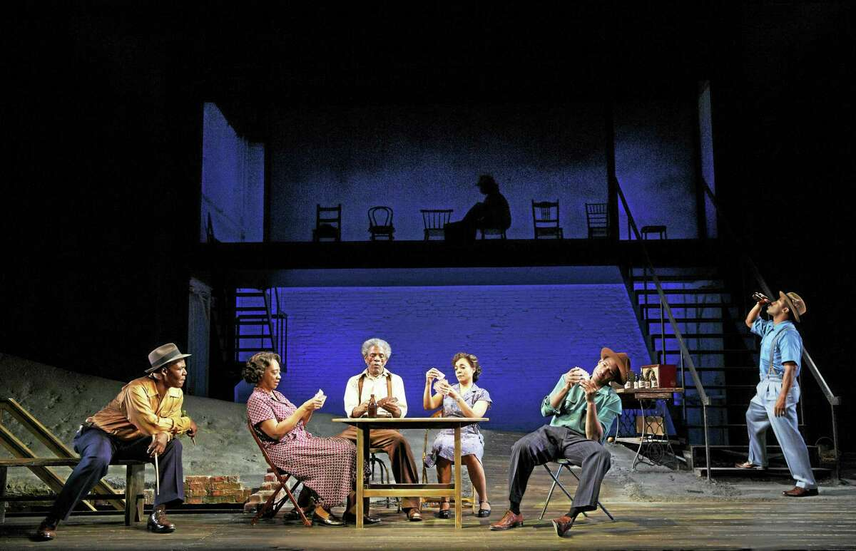 From left, Danny Johnson, Stephanie Berry, André De Shields, Rachel Leslie, Billy Eugene Jones and Wayne T. Carr in the Yale Rep production.