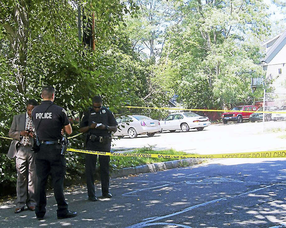 A Guilford man was taken to the hospital Tuesday morning after he was shot on Mansfield Street in New Haven. Police said the man's injury was not considered life-threatening. Photo: Wes Duplantier — The New Haven Register