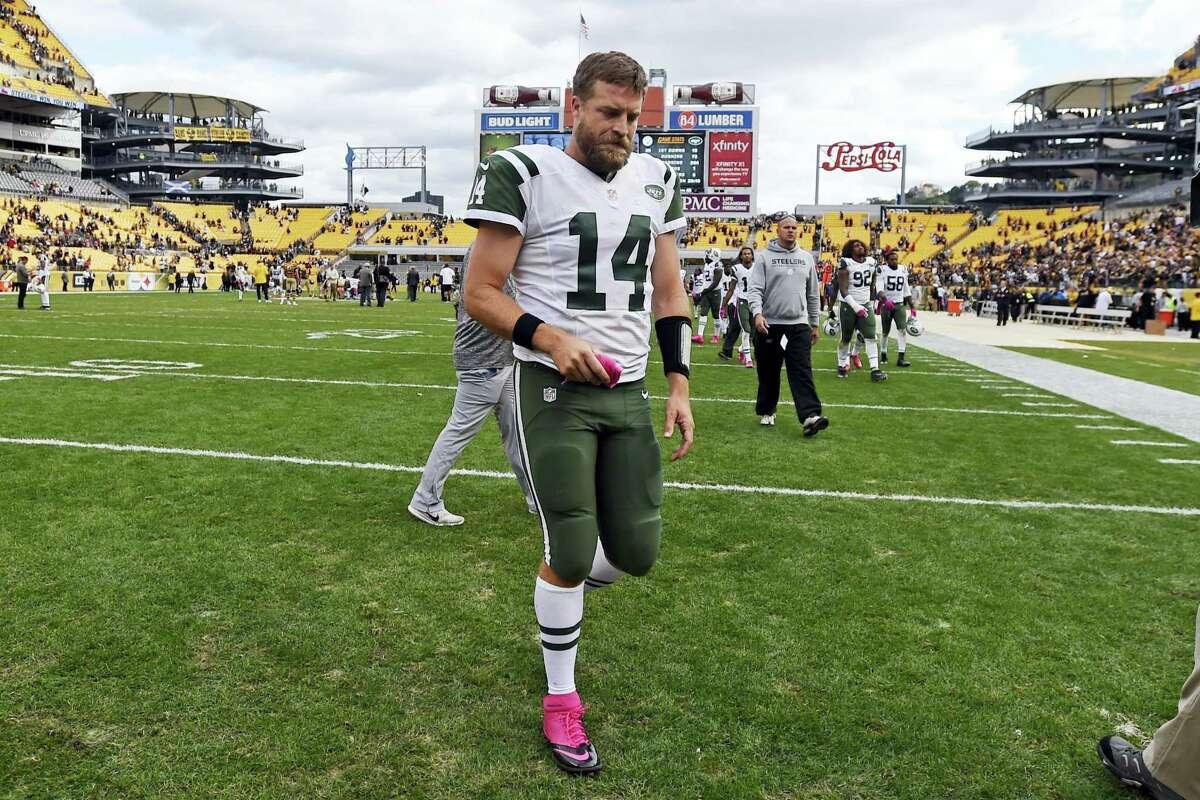 New York Jets quarterback Ryan Fitzpatrick.