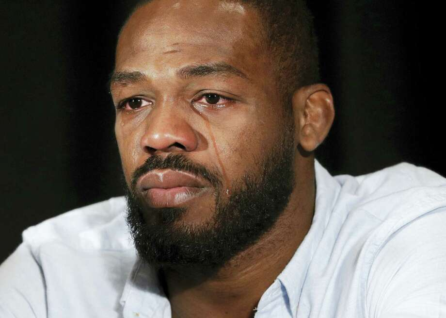 Mixed martial arts fighter Jon Jones speaks during a news conference Thursday in Las Vegas. Jones was scheduled to fight Daniel Cormier at UFC 200 but was pulled from the event because of a potential violation of the UFC's anti-doping policy. Photo: John Locher — The Associated Press   / Copyright 2016 The Associated Press. All rights reserved. This material may not be published, broadcast, rewritten or redistribu