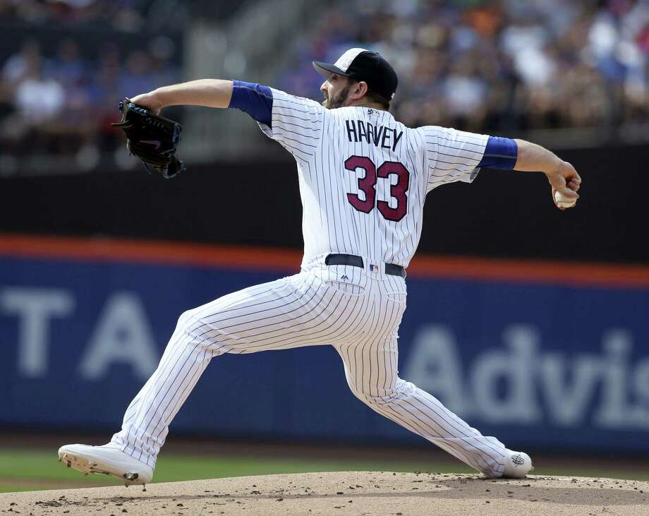 Mets starting pitcher Matt Harvey could be facing season-ending surgery. Photo: The Associated Press File Photo   / Copyright 2016 The Associated Press. All rights reserved. This material may not be published, broadcast, rewritten or redistribu