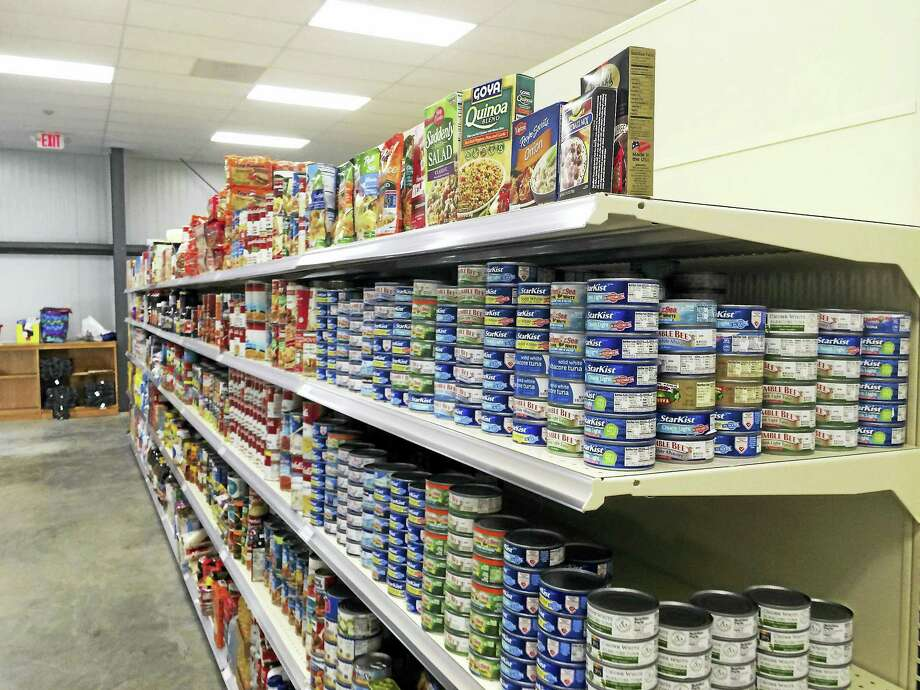 The Cheshire Community Food Pantry's new home on Sandbank Road. Photo: LUTHER TURMELLE — NEW HAVEN REGISTER