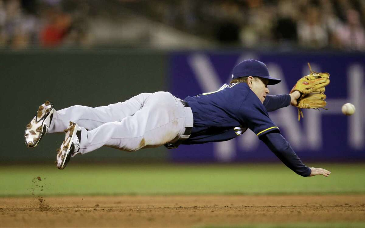 Aaron Hill was traded from the Brewers to the Red Sox on Thursday.