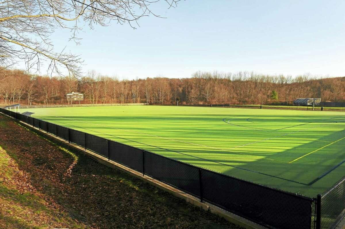 Quinnipiac University's north field, used for lacrosse and field hockey along Mount Carmel Avenue near Hogan Road in Hamden.