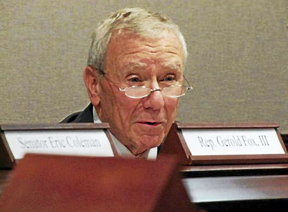 Retired Supreme Court Justice David Borden chairing the Sentencing Commission in 2011 Photo: Journal Register Co.