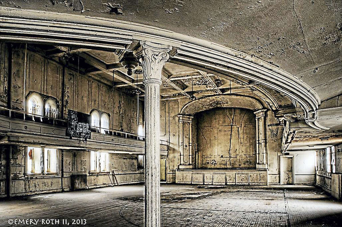 An portion of the interior of the former Ansonia Opera House.