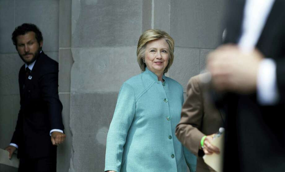 Democratic presidential candidate Hillary Clinton arrives to speak on the Boardwalk in Atlantic City, N.J. Bernie Sanders is preparing to endorse Hillary Clinton for president. Photo: AP Photo — Mel Evans / Copyright 2016 The Associated Press. All rights reserved. This material may not be published, broadcast, rewritten or redistribu