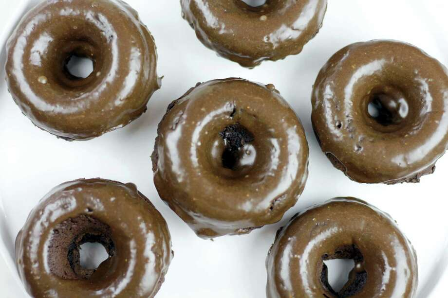 Chocolate peanut butter baked doughnuts. Photo: Melissa D'Arabian Via AP   / Melissa d'Arabian