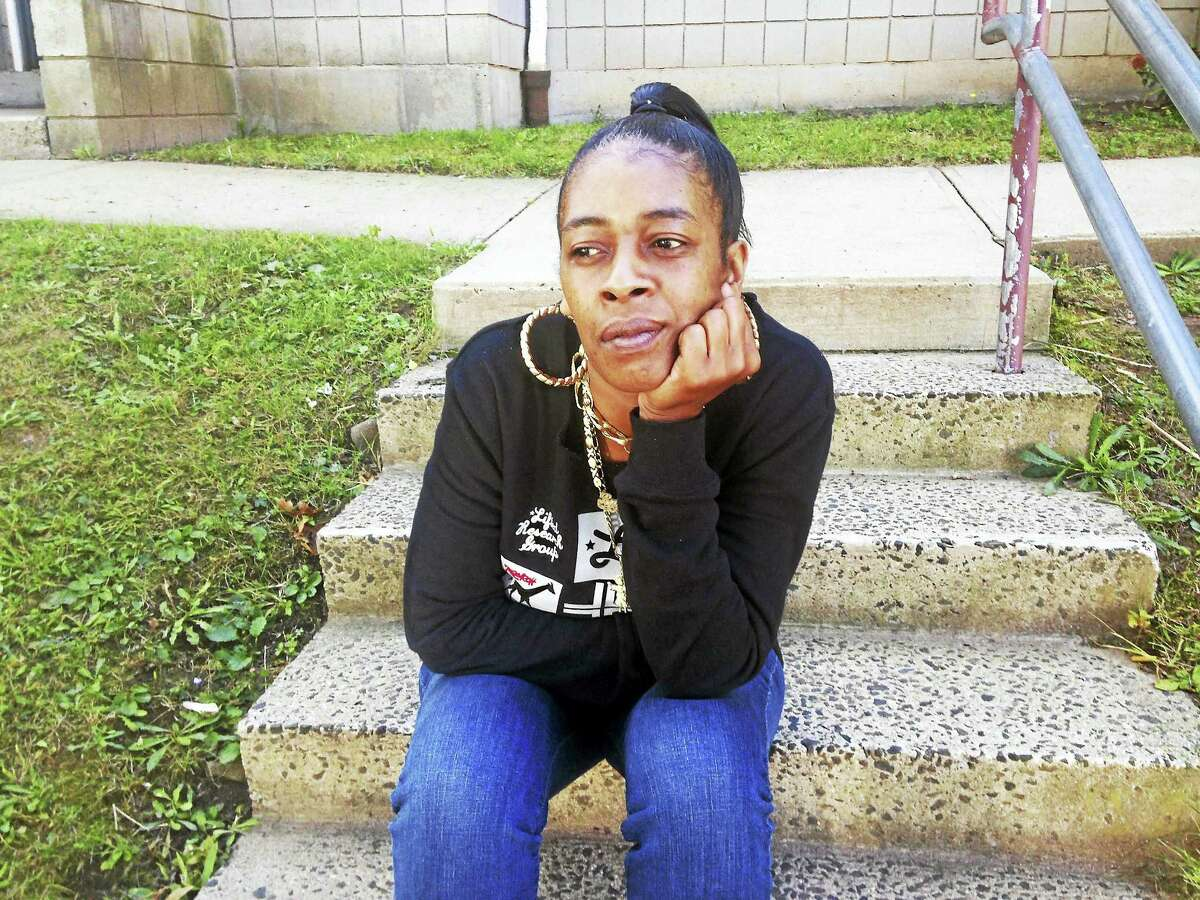 Martha Moore of New Haven has concerns about the way her son was arrested for carrying a paint ball gun Juilemar Ortiz - New Haven Register