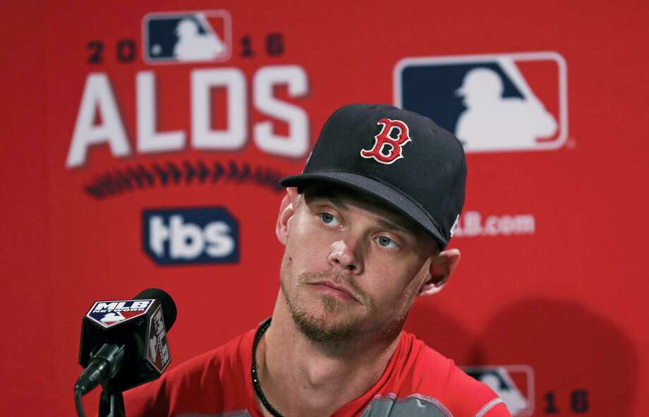 Red Sox starting pitcher Clay Buchholz listens to a reporter's question during a news conference on Saturday. Photo: Charles Krupa — The Associated Press   / Copyright 2016 The Associated Press. All rights reserved.