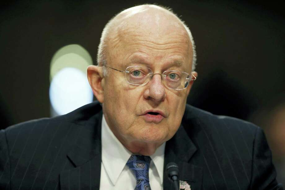 "In this Feb. 9, 2016, file photo, Director of the National Intelligence James Clapper speaks on Capitol Hill in Washington. The U.S. is accusing Russia of hacking political sites, saying it is trying to interfere with the upcoming presidential election. Intelligence officials say they are confident that the Russian government directed the recent breaches of emails from American people and institutions, including U.S. political organizations. The Office of the Director of National Intelligence and the Department of Homeland Security have released a joint statement saying that based on the ""scope and sensitivity"" of the hacking efforts, only Russia's ""senior-most officials"" could have authorized these activities. Photo: Alex Brandon — AP File Photo / Copyright 2016 The Associated Press. All rights reserved. This material may not be published, broadcast, rewritten or redistribu"