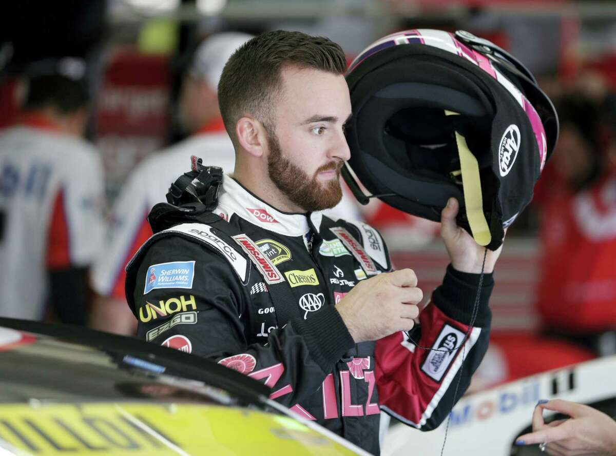 Austin Dillon prepares before practice for Saturday's race at Charlotte Motor Speedway.