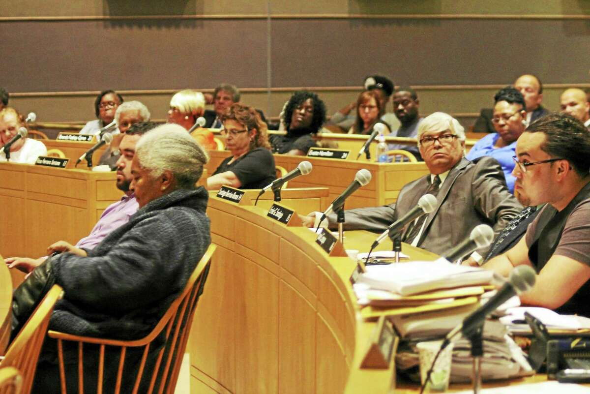 Members of the Board of Alders during their June 6 meeting at City Hall in New Haven.