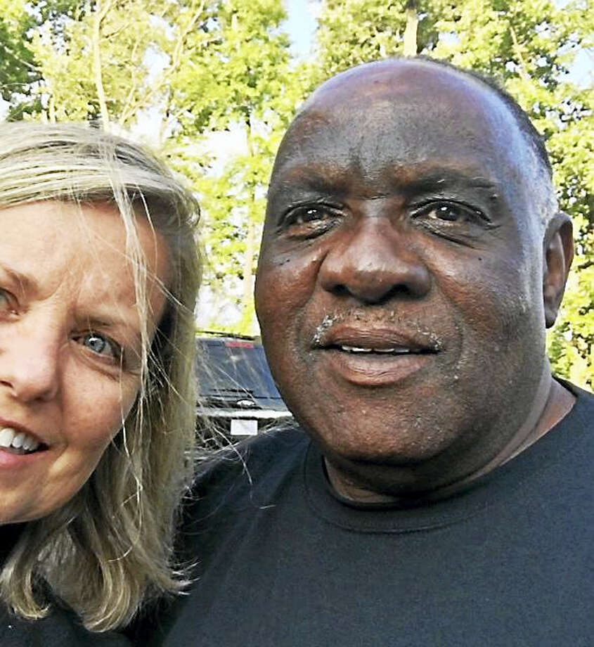 Liz Willock and Ellis Hill after they met. Photo: Photo — Liz Willock/GoFundMe Page / Handout