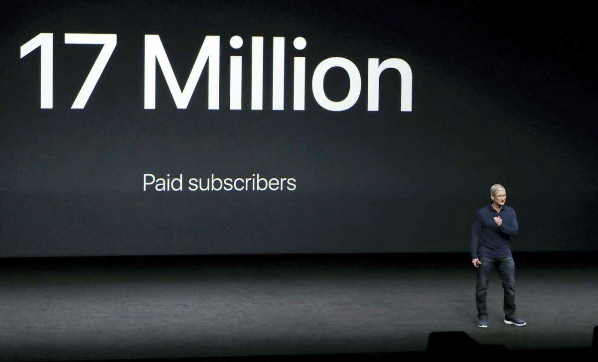 Apple CEO Tim Cook speaks during an event to announce new products, Wednesday, Sept. 7, 2016 in San Francisco.