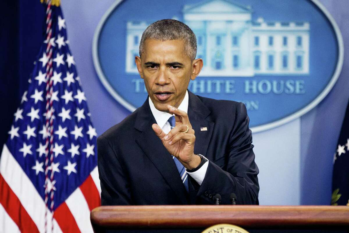President Barack Obama speaks in the White House briefing room on the Supreme Court decision on immigration.