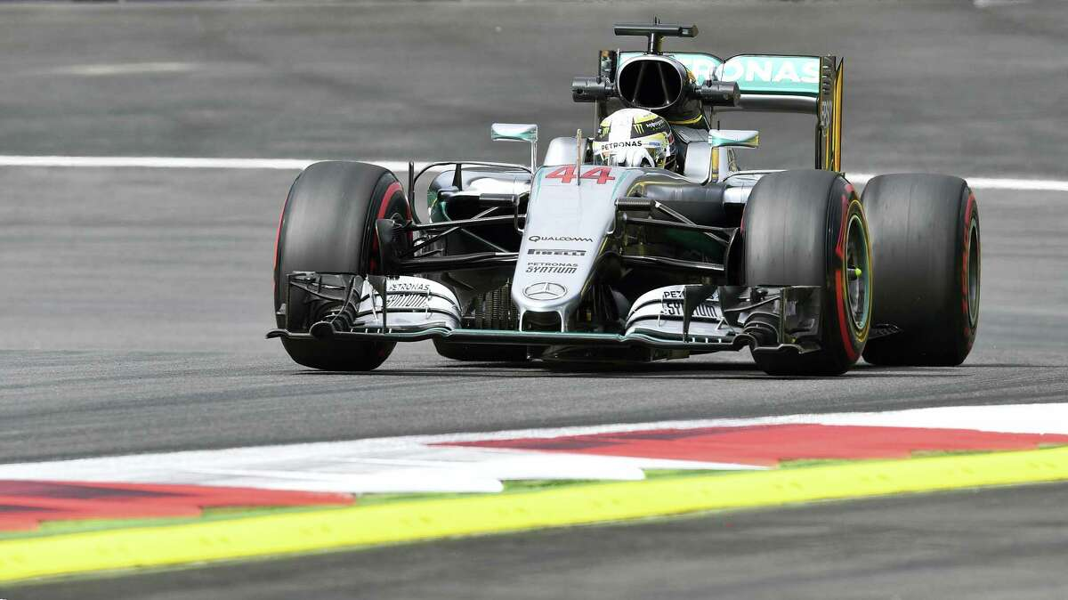 Mercedes driver Lewis Hamilton of Britain steers his car during the first training session prior to the Formula One Grand Prix, at the Red Bull Ring in Spielberg, Austria, on July 1, 2016. The race is scheduled for Sunday.