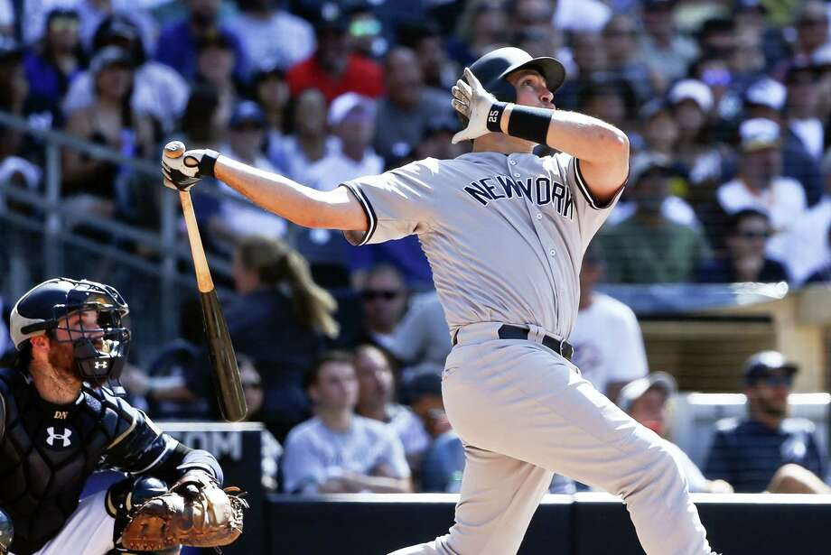 Mark Teixeira hit his 400th career home run against the Padres on Sunday. Photo: Lenny Ignelzi — The Associated Press   / Copyright 2016 The Associated Press. All rights reserved. This material may not be published, broadcast, rewritten or redistribu