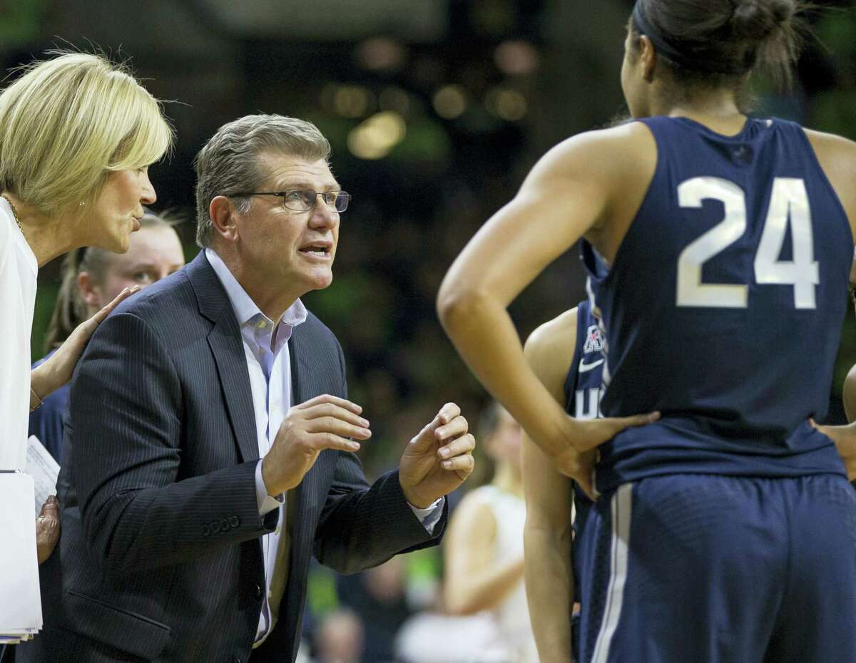 UConn women's basketball coach Geno Auriemma.