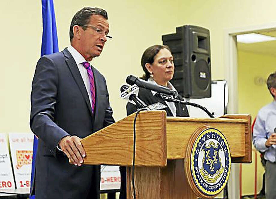 Gov. Dannel P. Malloy and DCF Commissioner Joette Katz Photo: Christine Stuart Photo