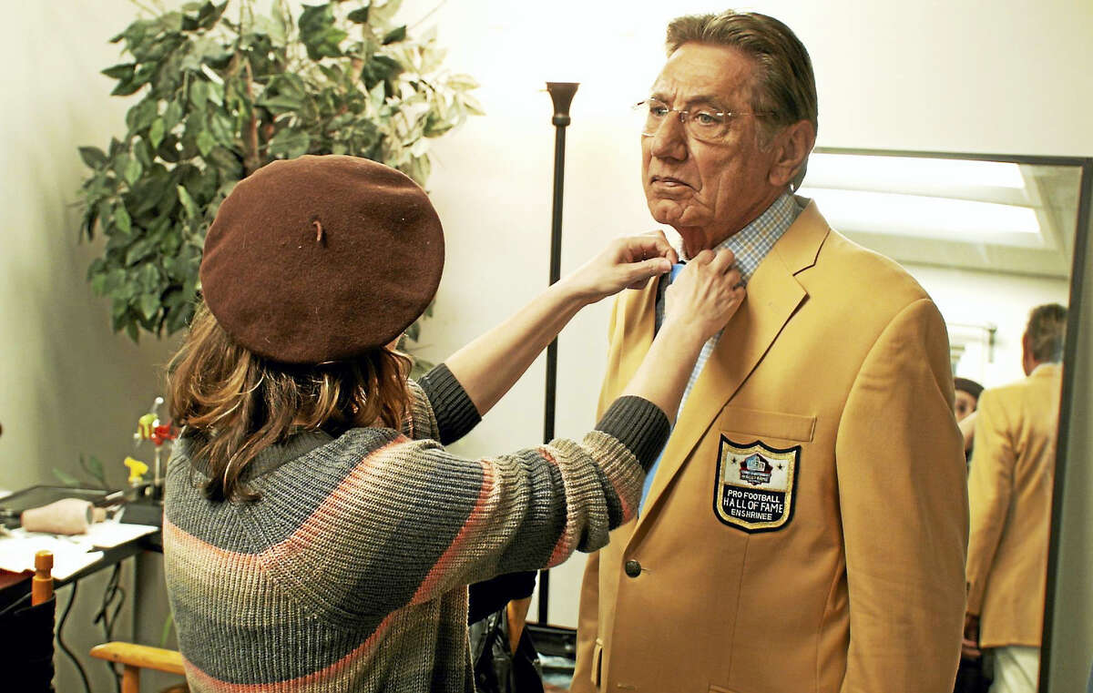 """Hall of Famer Joe Namath is prepared for filming """"A Game for Life"""" in Los Angeles. """"A Game for Life,"""" a cutting-edge, multi-sensory immersive theater including holographic representations of Hall of Fame legends Joe Namath, George Halas and Vince Lombardi, is set to open at the Pro Football Hall of Fame in mid-July."""