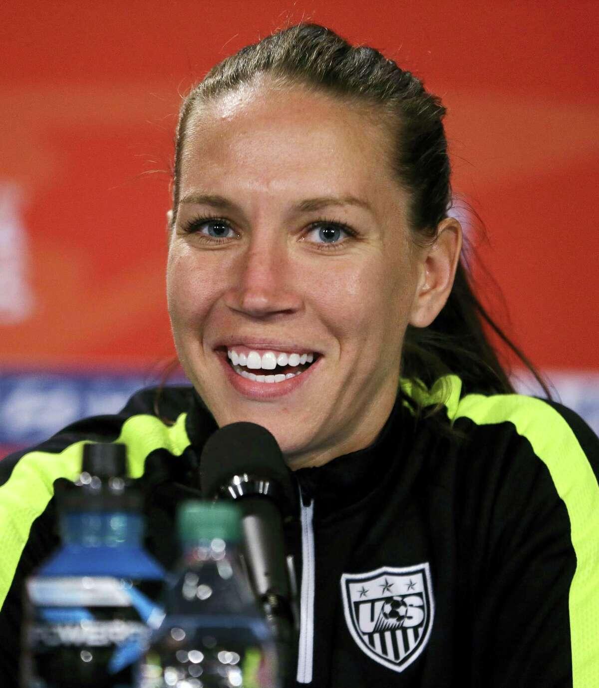 U.S. midfielder Lauren Holiday is seen here in this 2015 file photo