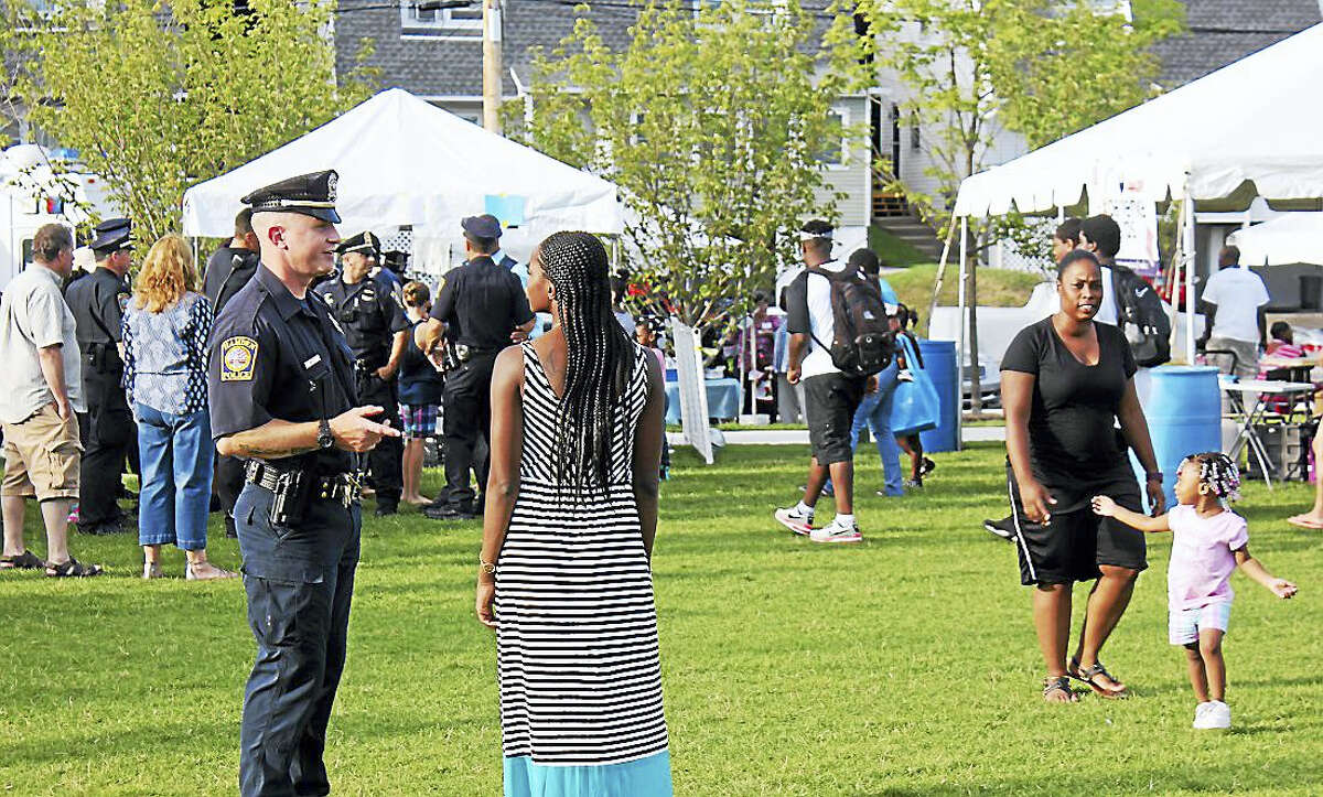 Residents and police were on hand Tuesday night for Hamden National Night Out.