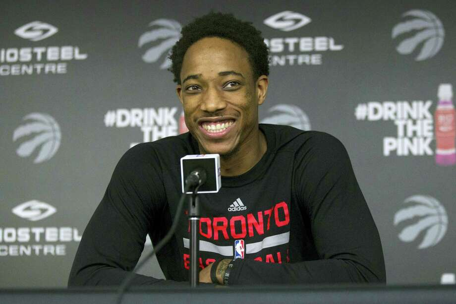 DeMar DeRozan is staying with the Toronto Raptors after agreeing on the framework of a five-year deal. Photo: The Associated Press File Photo   / The Canadian Press