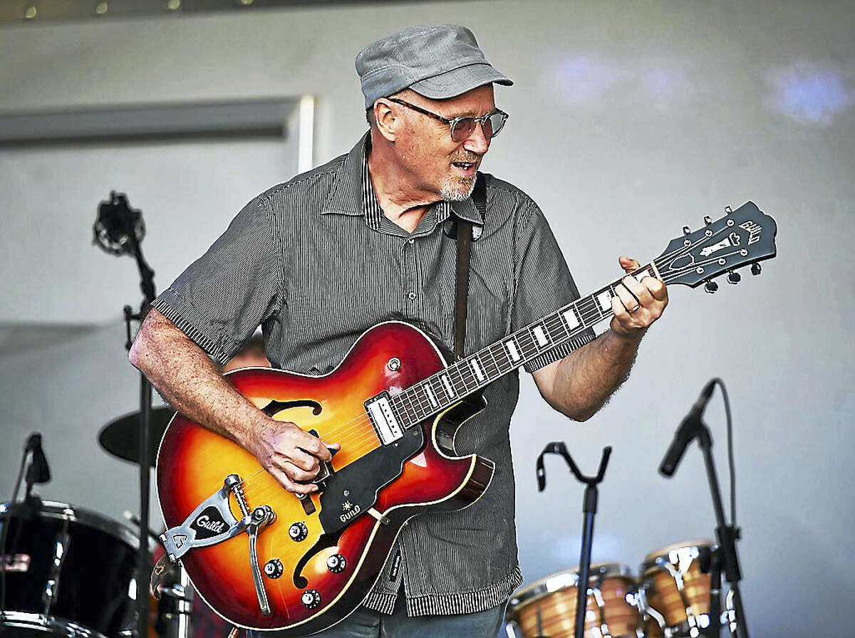 Marshall Crenshaw performed at the 5th Annual Grassy Strip Music & Art Series on the front lawn of the Madison Beach Hotel in Madison.