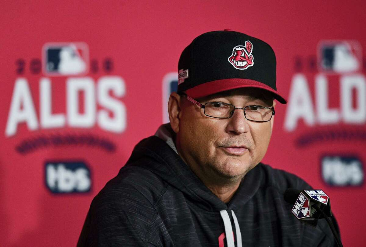 Cleveland Indians manager Terry Francona listens to a question in Cleveland Wednesday. Francona will manage against his former team, Boston, where he won two World Series championships in 2004 and 2007.