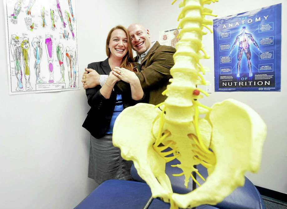 Jessica Pappas, owner of Pappas Diagnostics, and her fiance, chiropractor Brian Hollander, have teamed up to open Hollander Spine, Sport and Diagnostics in Woodbridge. Photo: Peter Hvizdak — New Haven Register   / ©2016 Peter Hvizdak