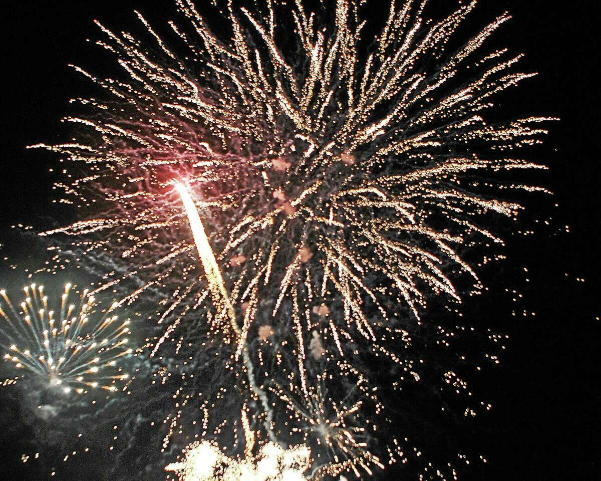 CHRIS BARBER AVON GROVE SUN Fireworks lit up the sky over Longwood Gardens and Nottingham Park in July.