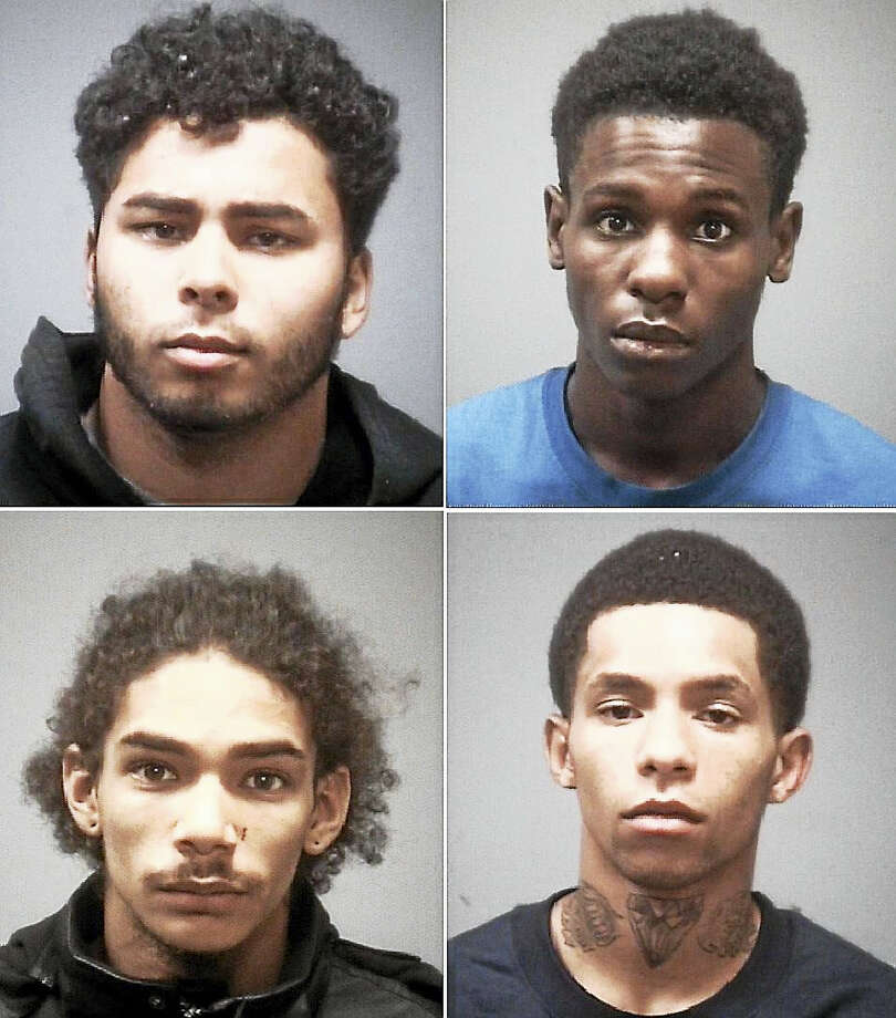 Anthony E. Marrero, Isaiah Caves, Jordan Johnson, Davaul Nasir Amin Photo: Courtesy New Haven PD