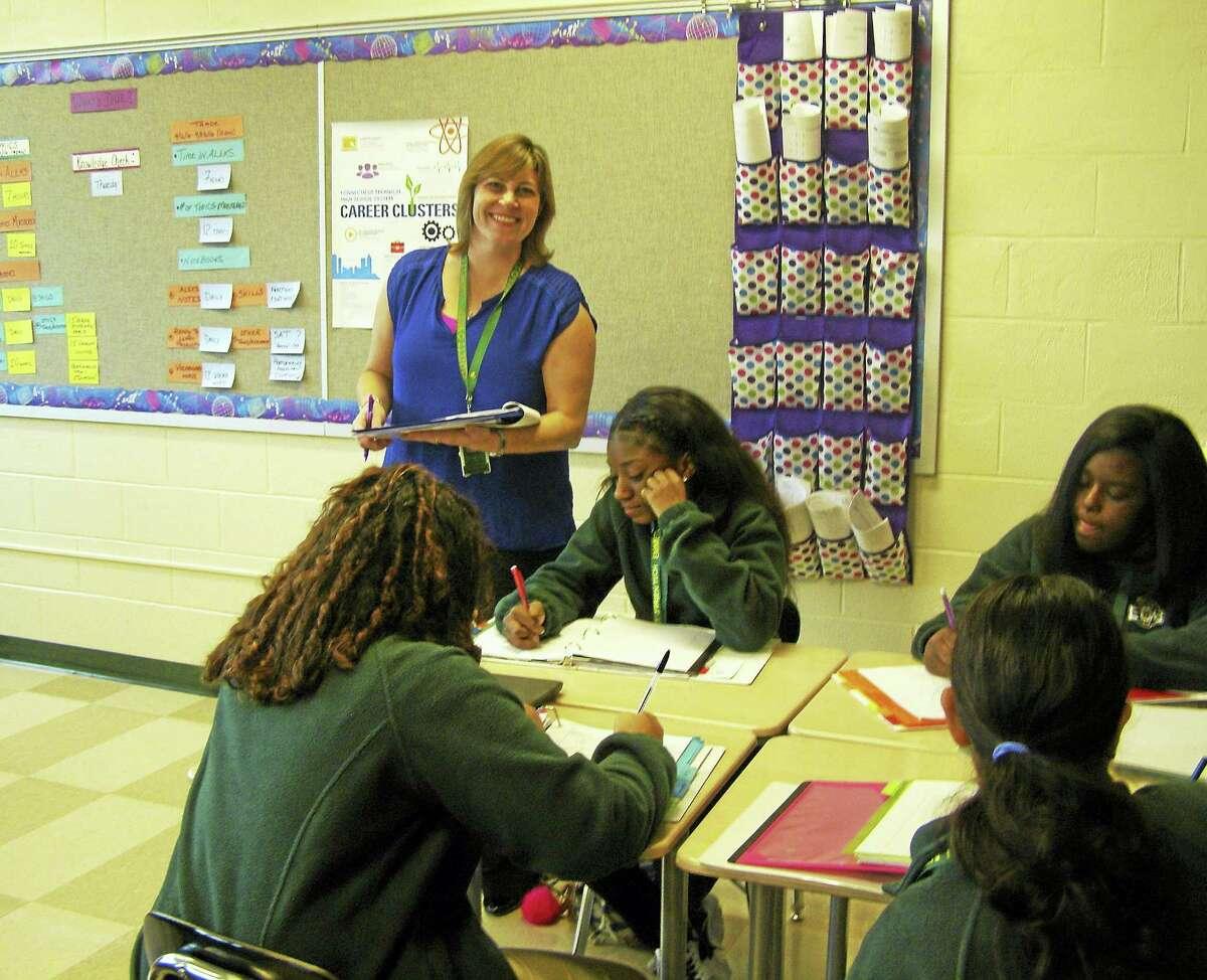CONTRIBUTED photo — Lucy Corraro, Emmett O'Brien Technical High School Kimberly Adams in her classroom.
