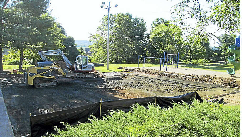 The playground at Ridge Hill School is being renovated. Photo: PHOTO FROM HAMDEN FACEBOOK PAGE