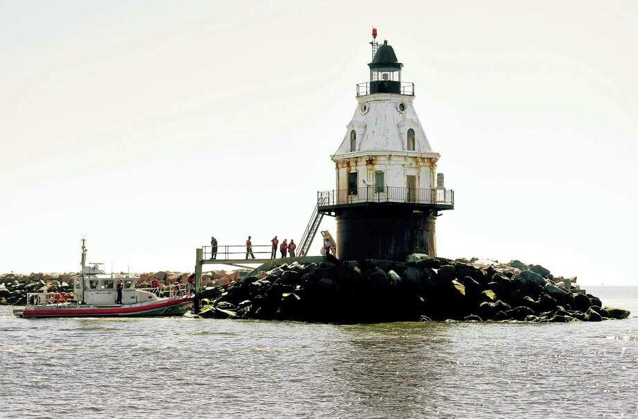 Southwest Ledge Lighthouse in New Haven Harbor in August. Photo: Peter Hvizdak — New Haven Register   / ©2016 Peter Hvizdak