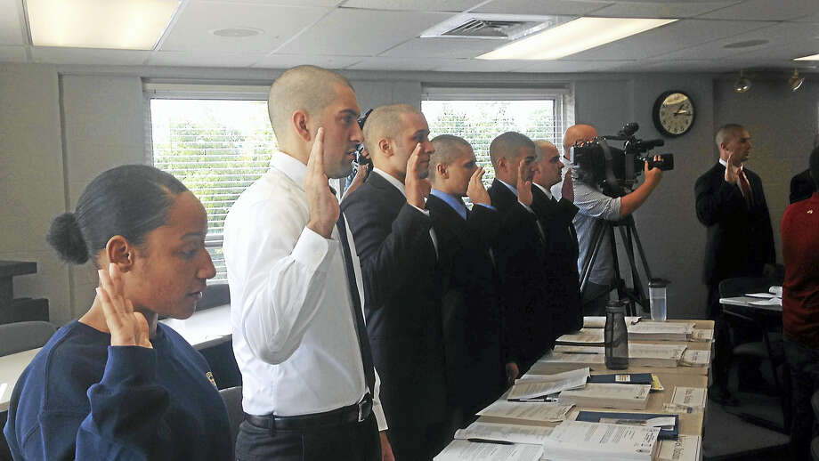 The New Haven Police Department began training 30 new recruits Monday. Photo: Juliemar Ortiz — New Haven Register