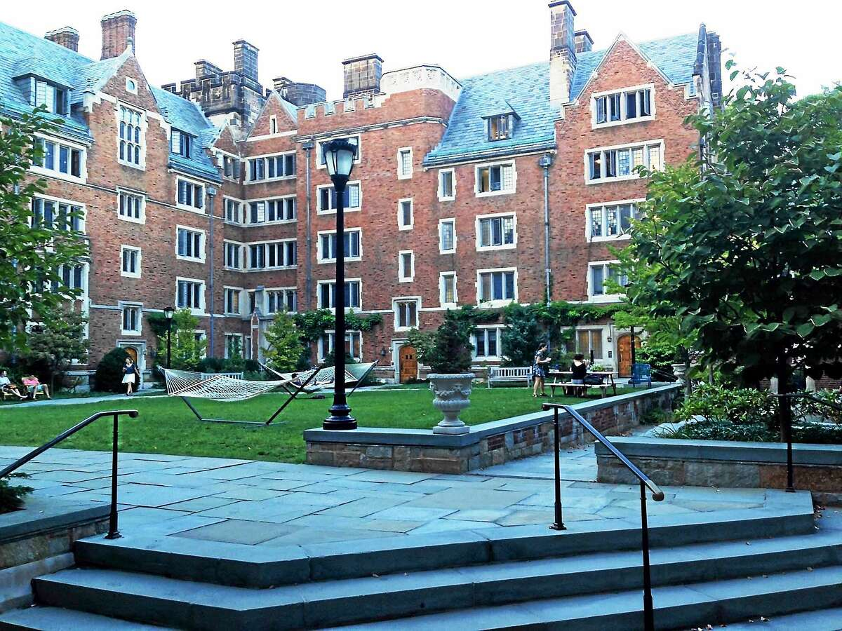 The quad at Calhoun College at Yale University in New Haven.