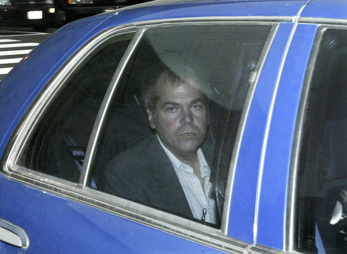 In this Nov. 18, 2003 photo, John Hinckley Jr. arrives at U.S. District Court in Washington. The man who shot President Ronald Reagan 35 years ago will leave a psychiatric hospital to live full-time in Virginia on September 10.