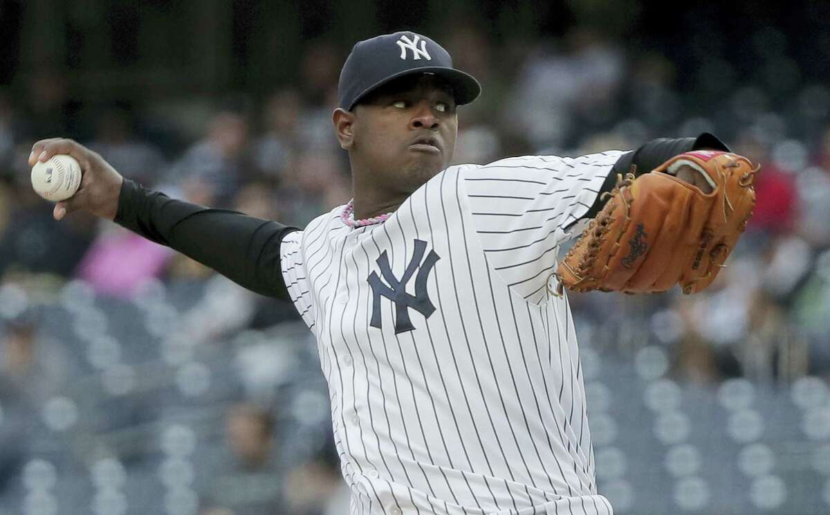 Yankees pitcher Luis Severino delivers against the Orioles on Saturday.