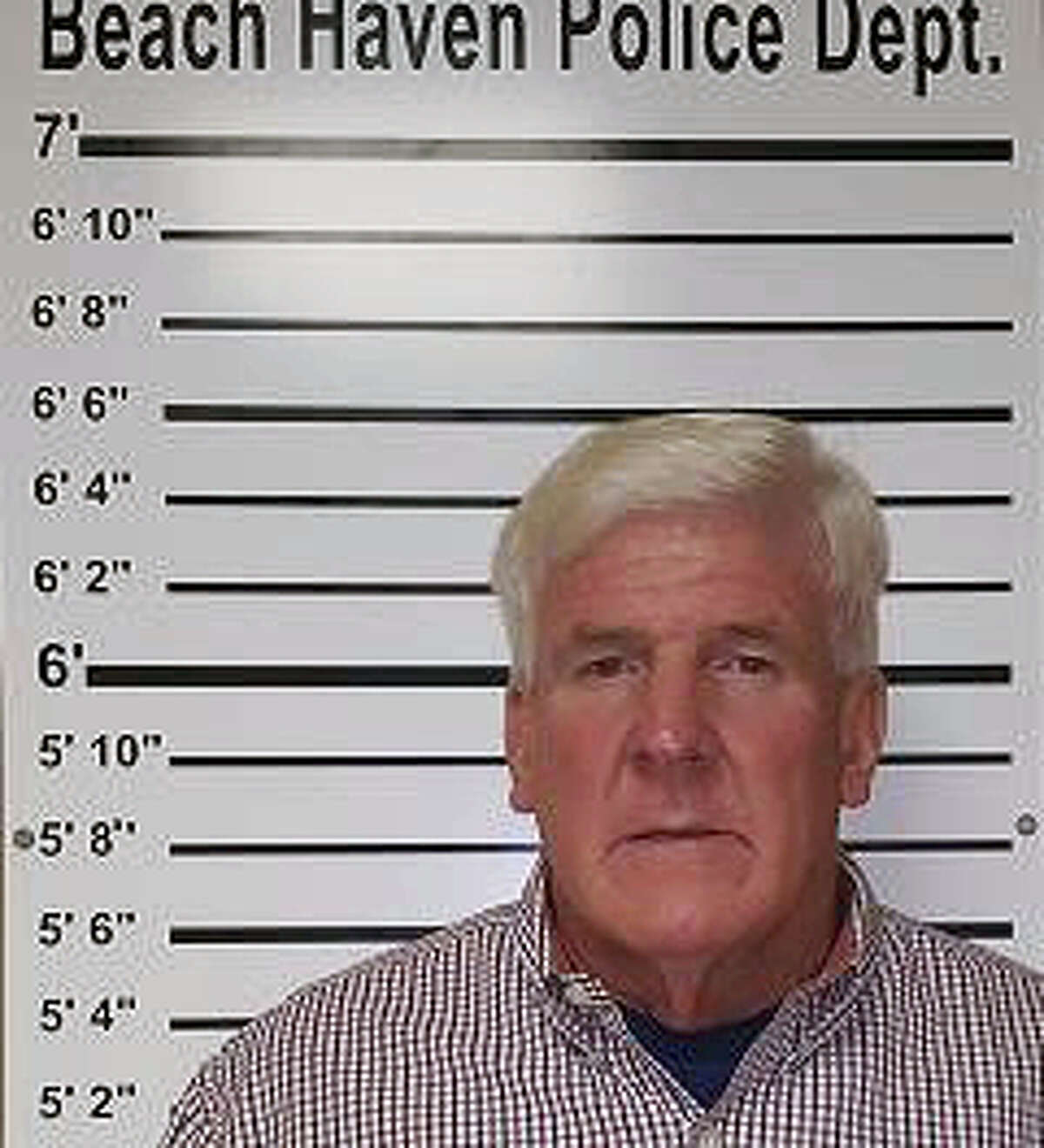 This photo provided by Beach Haven Police Department shows Stephen Wojciehowski. Police say Wojciehowski, who wore a bikini fashioned out of see-through plastic wrap on a New Jersey beach is facing a criminal charge. He was arrested Monday, Sept. 26, 2016, and was released pending further court proceedings.